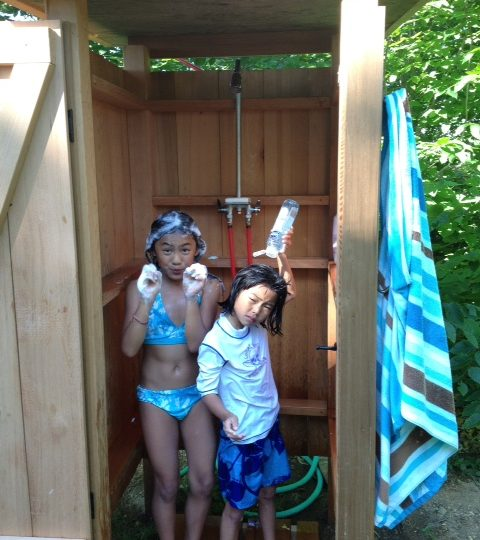 Instructions for an Outdoor Shower
